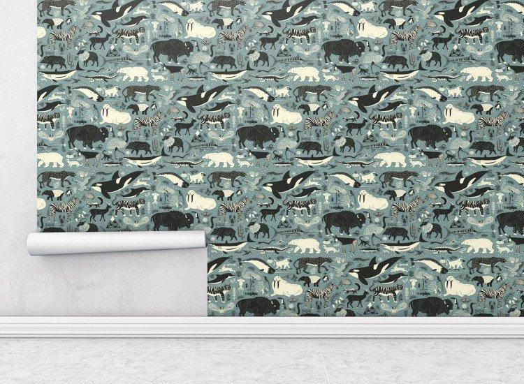 Тапети-Дизайнерски Тапет Wildlife Blue