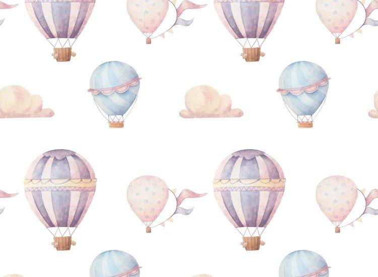 Тапети-Дизайнерски Тапет Hot air balloons multicolor
